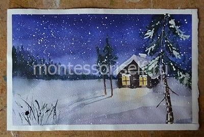 "Картина ""зима"" своими руками"