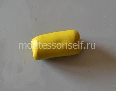 Толстая желтая колбаска
