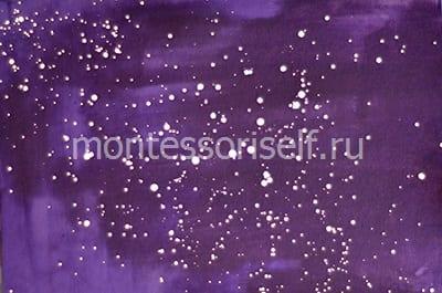 Рисуем звездное небо на фиолетовом фоне