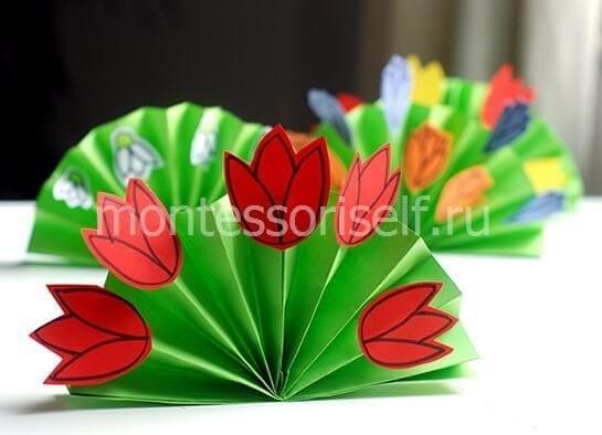 Весенний букет из бумаги
