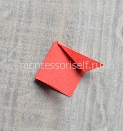 Складываем треугольники по образцу