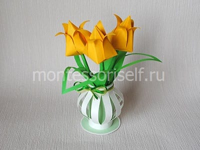 Тюльпаны из бумаги оригами