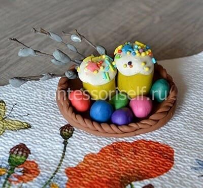itog-5 Пасхальная корзинка с зайцами своими руками