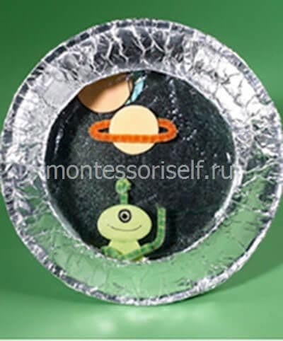 Поделка на день космонавтики из одноразовой тарелки