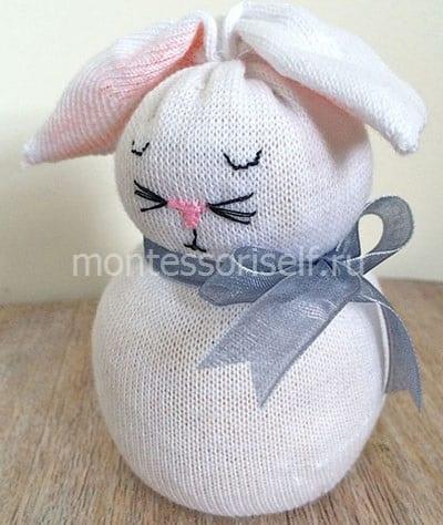 Кролик из носочка