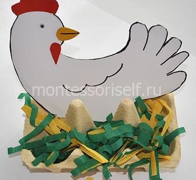 kur9 Пасхальная корзинка с зайцами своими руками