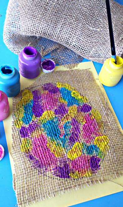 Рисуем жидкой краской поверх ткани