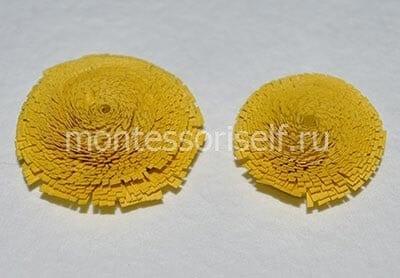 Заготовки из надрезанной желтой ленты