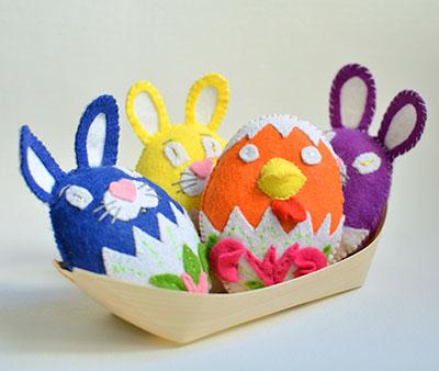 Пасхальные игрушки из фетра