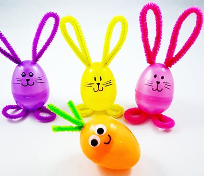 Пасхальные кролики с морковкой