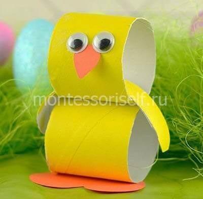 Пасхальный цыпленок из бумаги