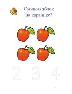 Сколько яблок на картинке