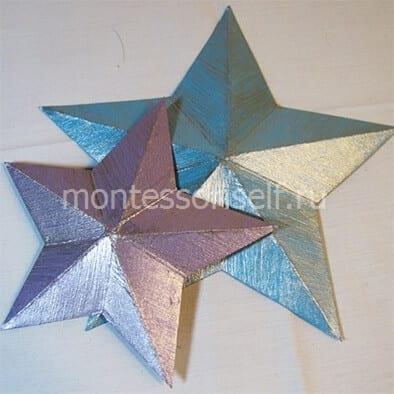 """Поделка """"звезда"""" из картона"""