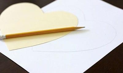 Рисуем сердце по шаблону