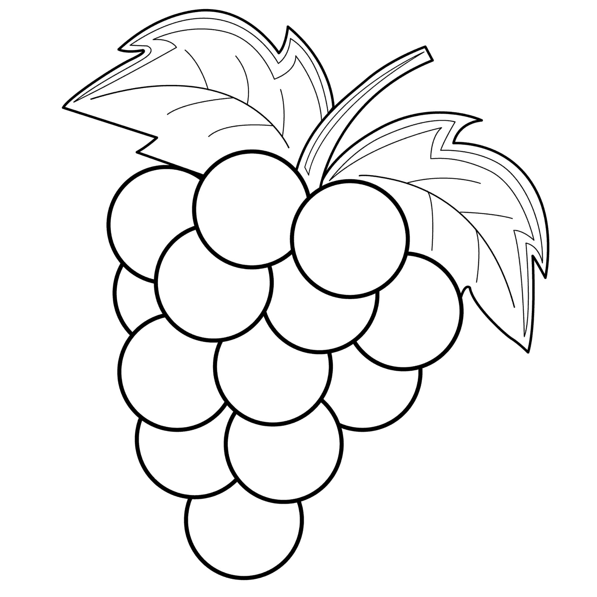 Раскраска ягодки распечатать