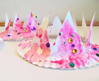 Корона из бумажной тарелки