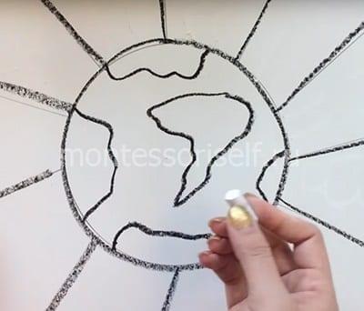 Рисуем символы белым мелком