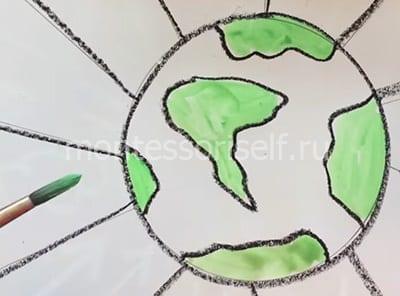 Раскрашиваем острова и материки