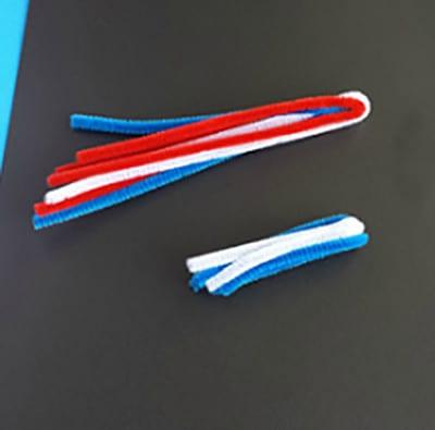 We make a brush from blue sticks brush