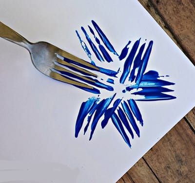 Salute drawn with a fork 1