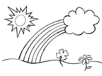 Солнышко и радуга