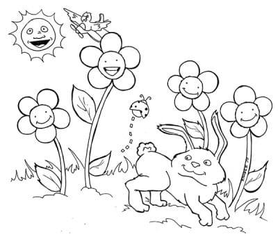 Зайчик на лужайке