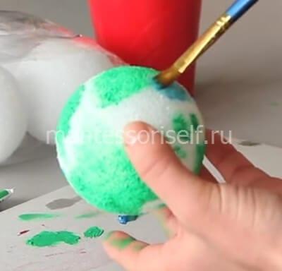 Раскрашиваем шарик