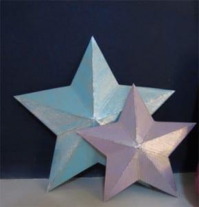 Звезды из бумаги к 9 мая