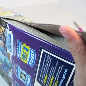 Разбираем картонную коробку
