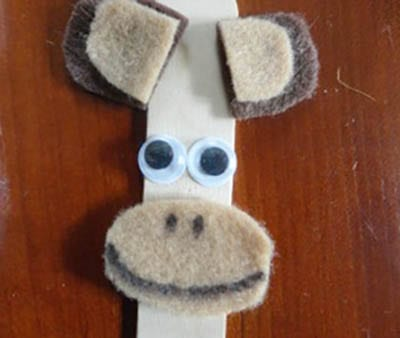 A monkey from a stick from ice cream