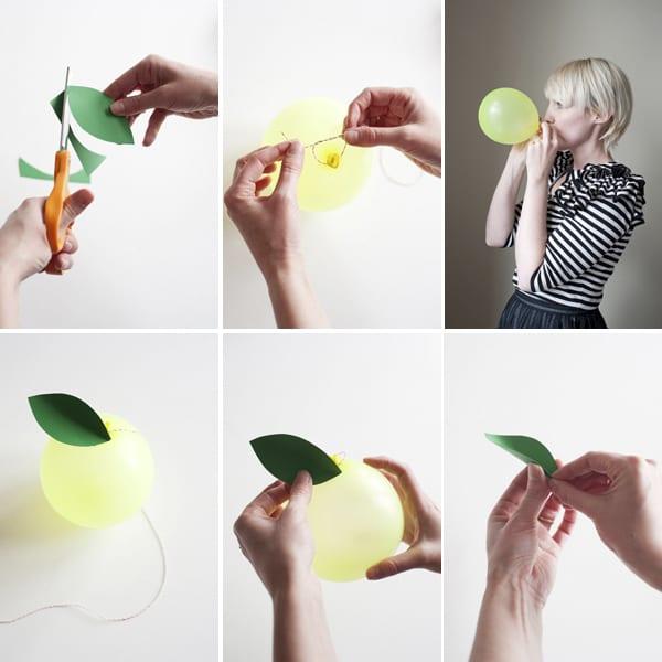 Как сделать фрукты из шариков