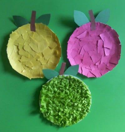 """Поделка из одноразовой тарелки """"Яблоко"""""""