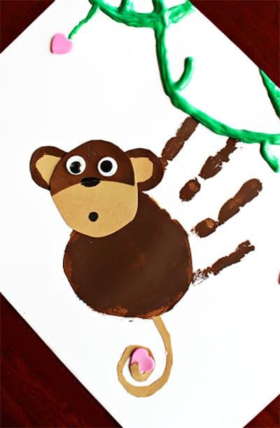 Рисунок и аппликация обезьянка 2