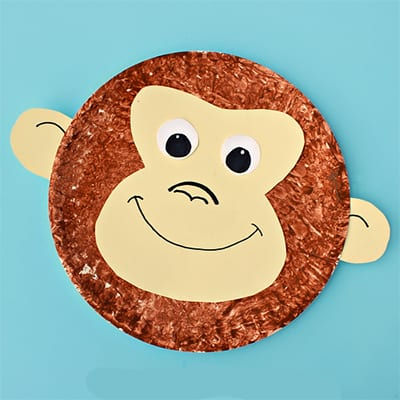 monkey from a disposable plates