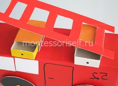 Спичечные коробки и лестница