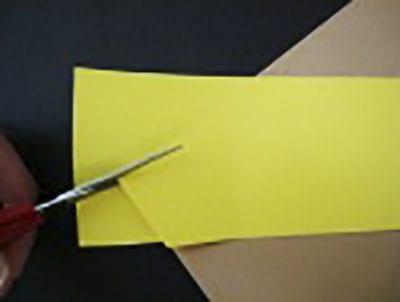 Обрезаем лишнюю бумагу