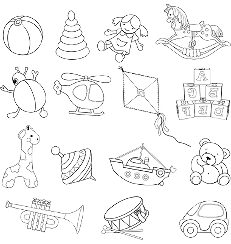 Раскраска игрушки 15