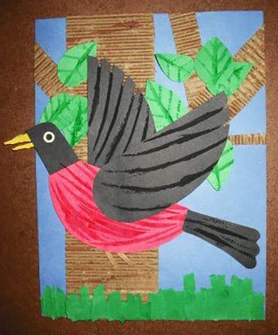 Птичка с деревом