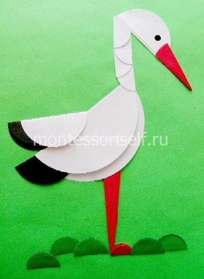 Птица из сложенной бумаги