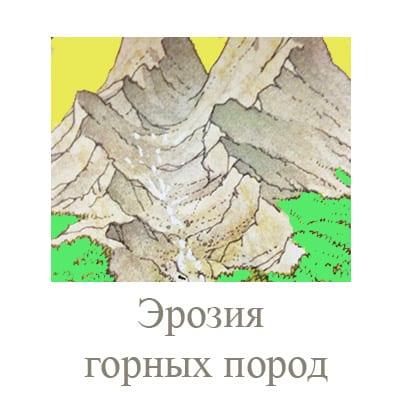 эрозия горных пород