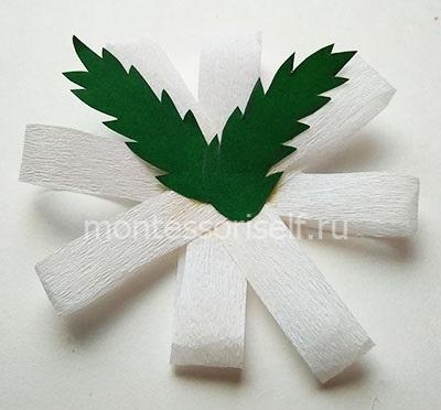 Ромашка из бумажных полосок 2