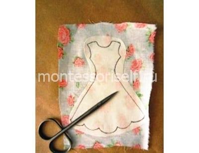 Вырезаем платье из ткани по шаблону
