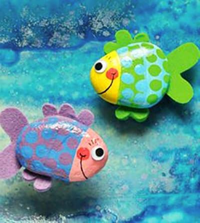 Рыбки из камней своими руками