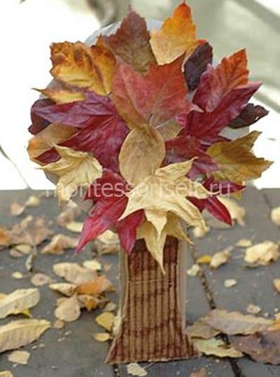 """Поделка на тему осень """"дерево из листьев"""""""