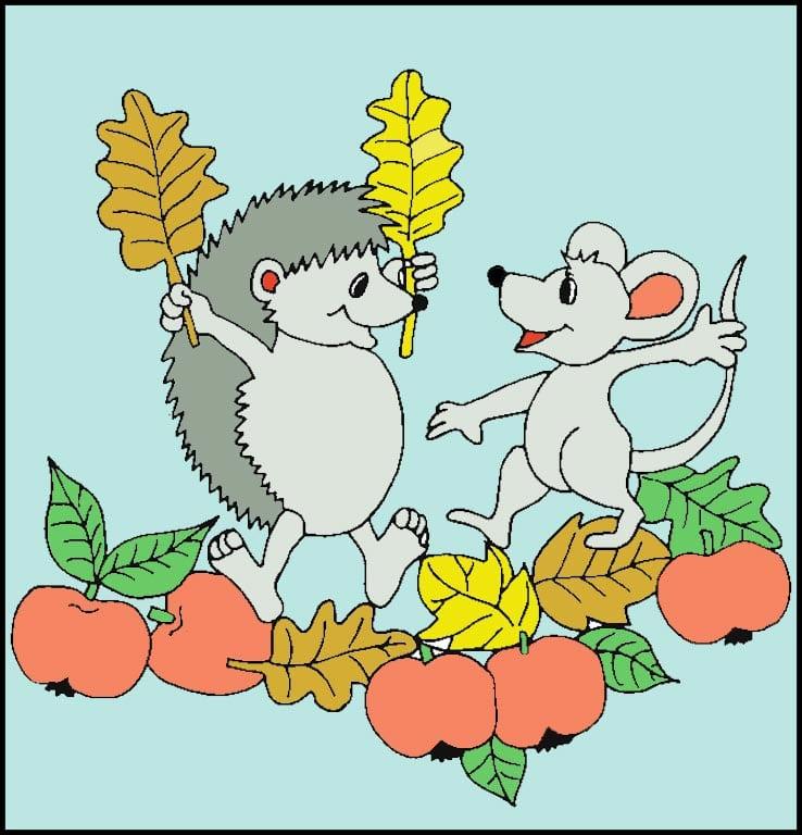 Как можно разрисовать ежика и мышконка