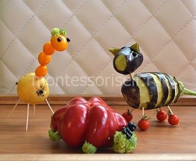 Поделка из овощей для детей