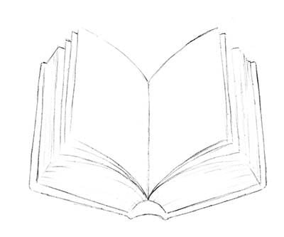 Как нарисовать книгу на День Учителя