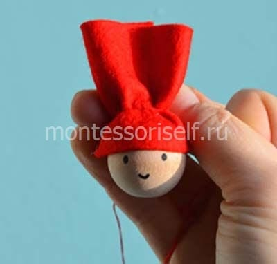 Стягиваем шапочку