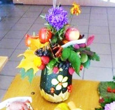 Осенняя ваза из кабачка