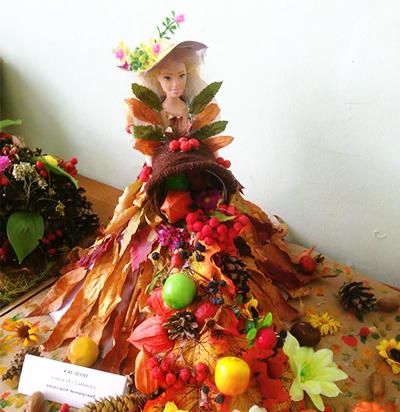 Платье для принцессы из листьев
